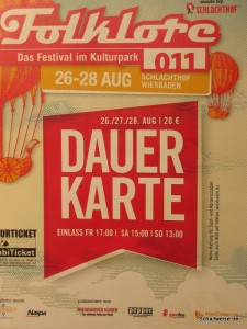 Eintrittskarte Folklore im Garten 2011