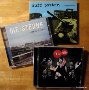 Cover der drei CD's die ich mir gekauft habe